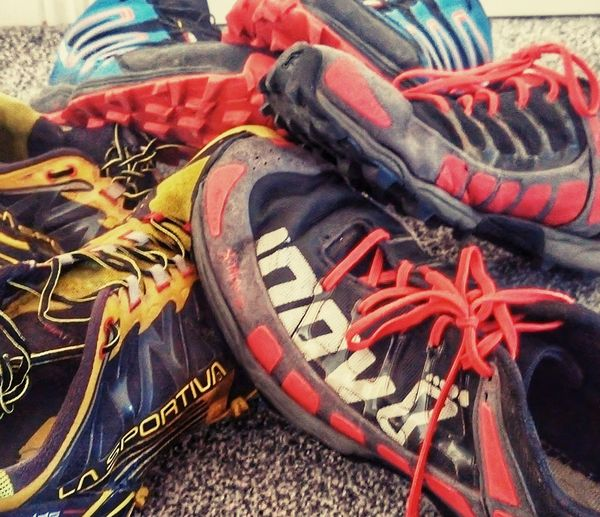 my trail runners, salomon, la sportiva, inov8 Trailrunning Fell Runner Salomonrunning La Sportiva Inov8 Lake District High Angle View Close-up
