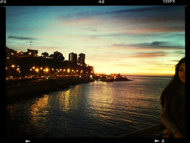 Viña del mar! Chile Viña Del Mar Anocheciendo