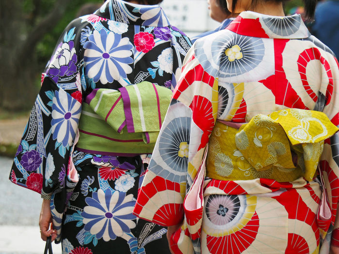 Midsection Women Wearing Kimono