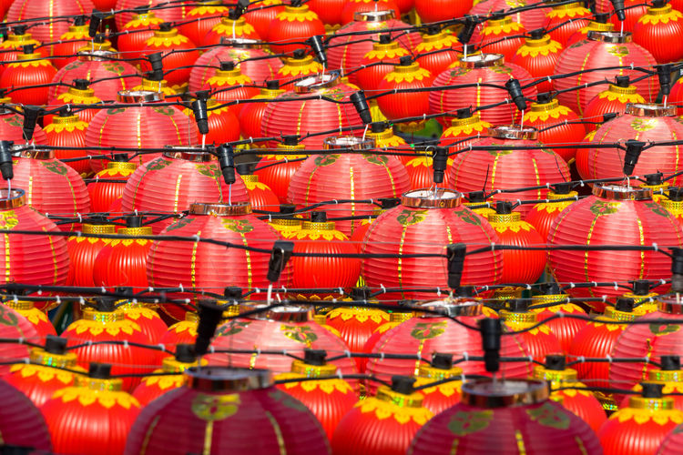 Full frame shot of chinese lanterns