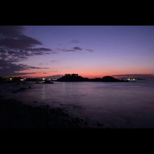 風景 海 夕暮れ 蕪島