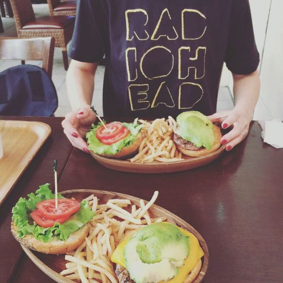 Today's Hot Look Summer Rock Festival Fashion Radiohead Lunch Humburger SUMMER SONIC2016😎🍔🤘
