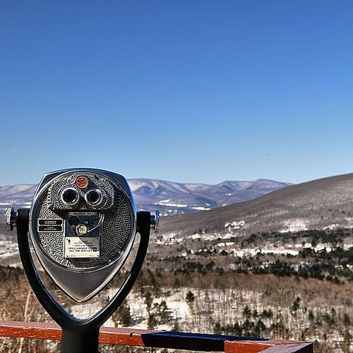 Viewpoint over North Adams along the Mohawk Trail. Westernmass Camp4pix Mohawk Mohawktrail Igersmass Scenic Landscape Forest Mountians Northadams Trees Telescope Viewpoint Scenery Country VisitMA @visitma