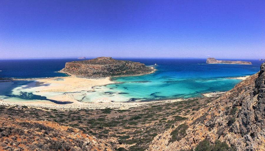 Balos Lagoon Crete Greece View From Above Lagoon Water Beach Beauty In Nature Travel Travel Destinations Hiking Blue Weather Ocean Tourism Showcase July The Week Of Eyeem Outdoors Sky Landscape Nature Day Famous Place Nikond610 Nikon