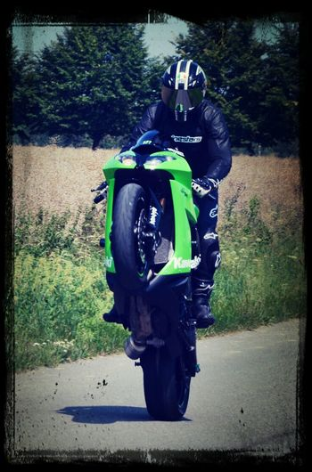 Stand up wheelie by NitioN Enjoying Life First Eyeem Photo