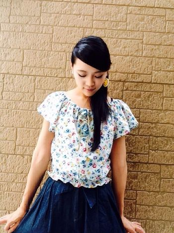 girl. frill. flower. also... already came summer😎 Model Modeling Modelgirl SoraNagata Photoshooting Modeling Shoot Fashion Shooting Codenate