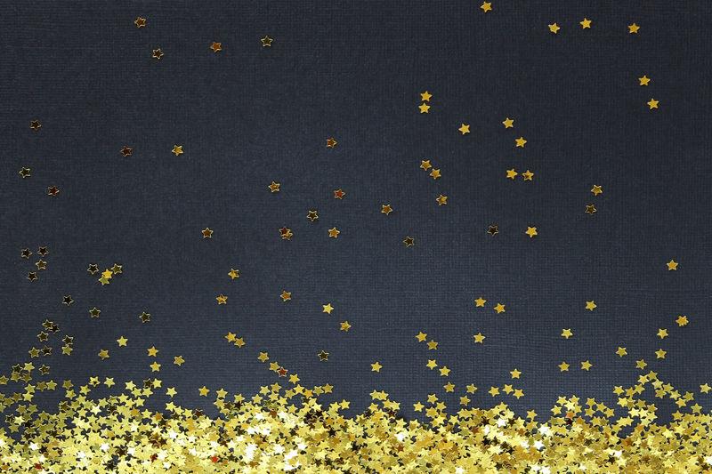 Starry sky Celebration Glitter Gold Holiday Sparkle Backgrounds Celestial Close Up Concept Confetti Festive Frame Night Party Sky Stars