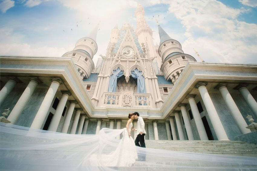 Prince and princess Wedding Marry Marriage  EyeEm Selects Travel Destinations Tourism Long Hair Front View Architecture One Person Beauty Outdoors Day People