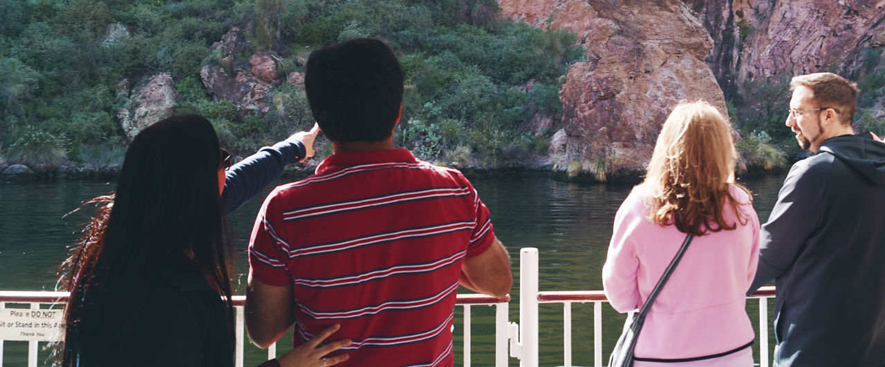 Nature Tourism Tourist Lake Water Waterfront Boat Tour Boat Railing Flower Arizona Travel Freedom Openness Traveling Life