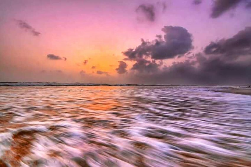 Landscape Sea Sunset Water Sun Nature Dramatic LandscapeDramatic Sky Tropical Climate Environment Travel Multi Colored Outdoors Backgrounds Series Of Light Wave 112mm Iso100 F22 Beach Reflection Sony Bestoftheday Sky