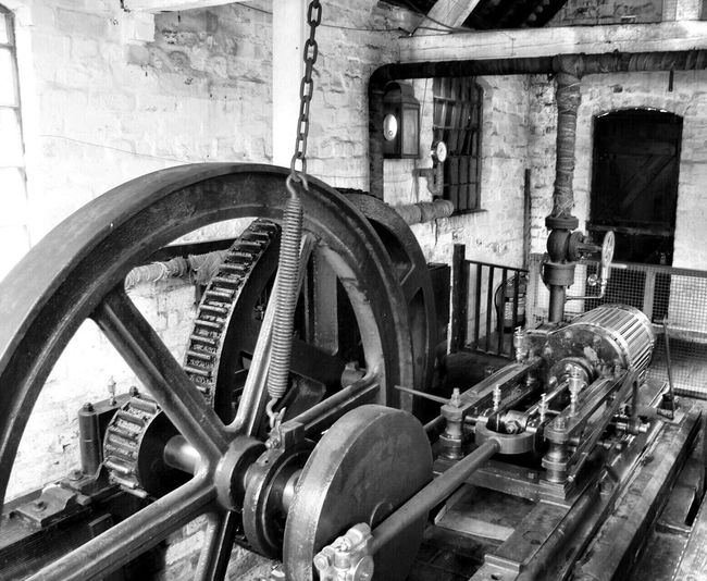Steering Wheel Abandoned Machinery No People Built Structure Day Architecture Gear Industry Factory Indoors  Close-up Blackcountrylivingmuseum