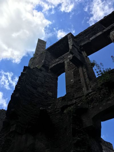 Low Angle View Sky Cloud - Sky History Built Structure Old Ruin Architecture Ancient The Past Archaeology Ancient Civilization Travel Destinations Day Damaged Arch No People Outdoors Nature Building Exterior View From Above Countryside Castles Colour Your Horizn