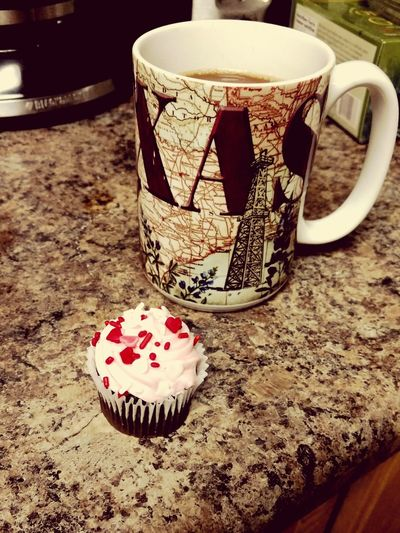 Happy Valentine's Day from my home to yours! Coffee Cupcake Valentine's Day  Holiday Celebrate Home Comfort Desert Meal Hearts Party EyeEmBestPics Outofthephone Popular Photos Love Untold Stories Ellijay Theellijays Chocolate Eyeemphotography