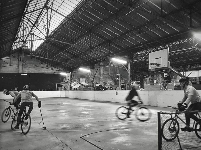 Bicycle Cycling Indoors  Real People Riding Bike Ride Bikeporn Bikers Biker Life Bike Polo Sport In The City City Life Welcome To Black The Street Photographer - 2017 EyeEm Awards Be. Ready. Adventures In The City