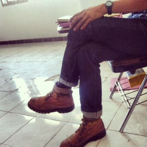 The shoes...Man Shoes Carterpilar
