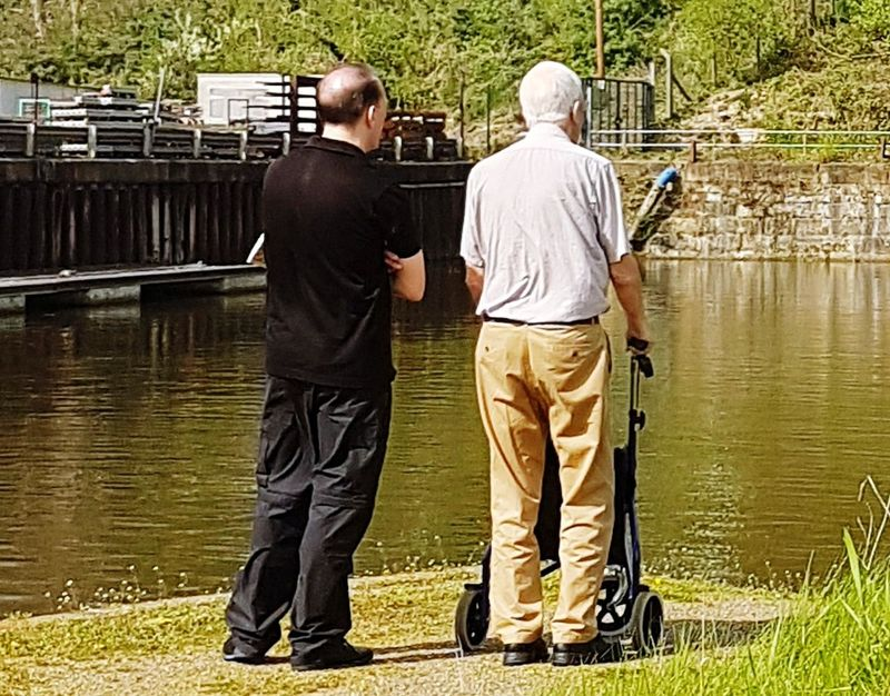 Father & Son Fatherandson Full Length Rear View Men Adults Only People Watching Only Men Adults Only Outdoors Watching You Watching People Watching Boats Family Time