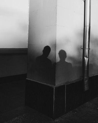 Portrait of two Two People Men Only Men Day VSCO Vscocam Bnw_life Blackandwhite Black & White Spirituality Silhouette Shadows Shadow Bnw Street Streetphotography Street Portrait