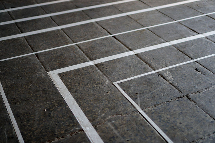 BPW18 Copy Space Abstract Architecture Backgrounds Brick Concrete Direction Flooring Footpath Full Frame Geometric Shape Gray In A Row No People Parallel Pattern Paving Stone Strategy Surface Level Textured  Textured Effect The Way Forward
