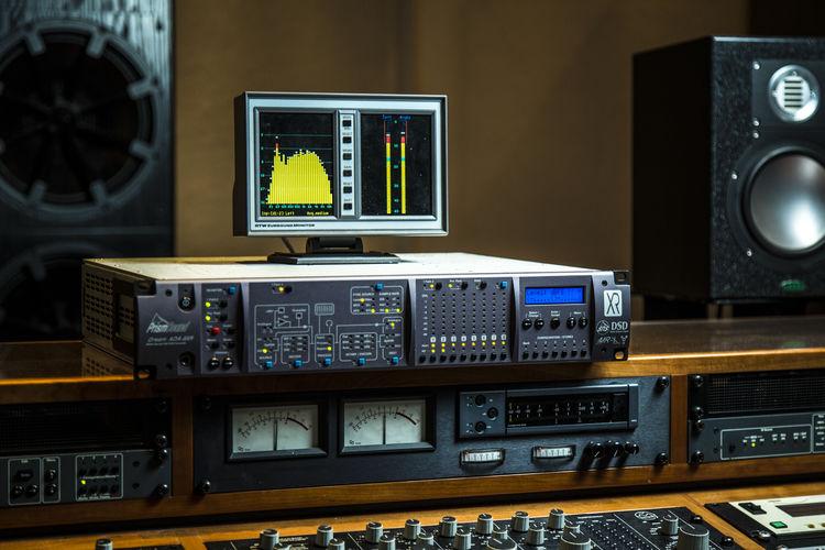 Equipment in recording studio