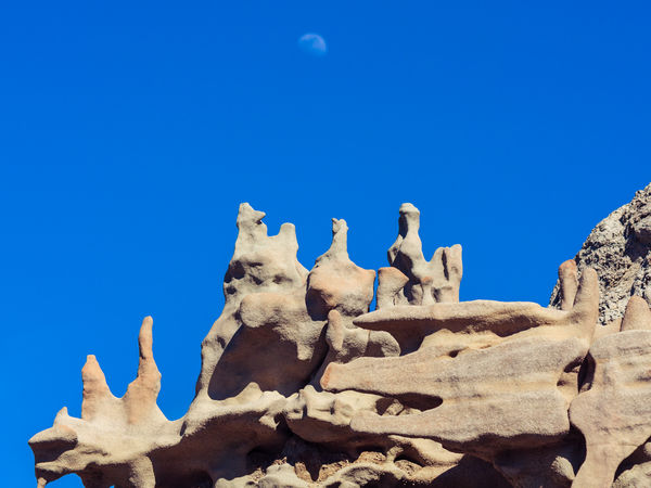 Weathering Fantasy Canyon Utah Beauty In Nature Blue Clear Sky Copy Space Day Desert Low Angle View Nature No People Outdoors Rock Hoodoo Sunlight Travel Destinations