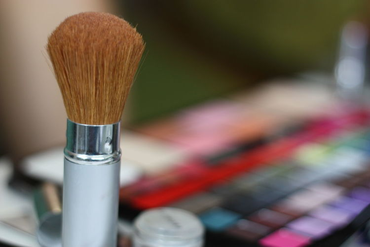 Close-up of make-up brush