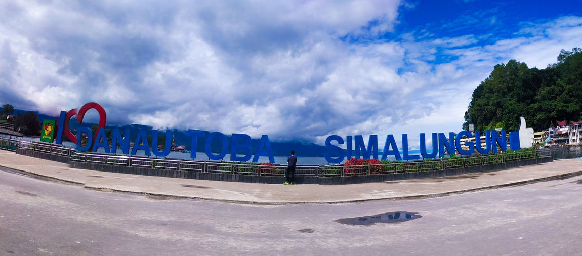Lake toba INDONESIA Sand Beach Cloud - Sky Sky Arts Culture And Entertainment Outdoors No People Sea Multi Colored Summer Blue Panoramic Landscape Nature Day Smartphonephotography Mobilephotography Panorama View