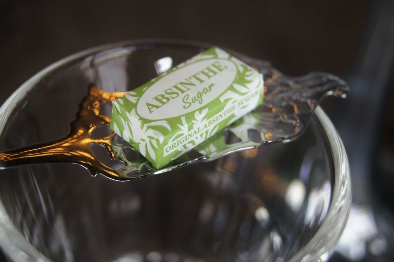 Absinthe Party Classic Elegant Melting Spoon Sugar Absinthe Absinthe Spoon Absinthe Sugar Close-up French Glassware Indoors  Melting Sugar No People Traditional