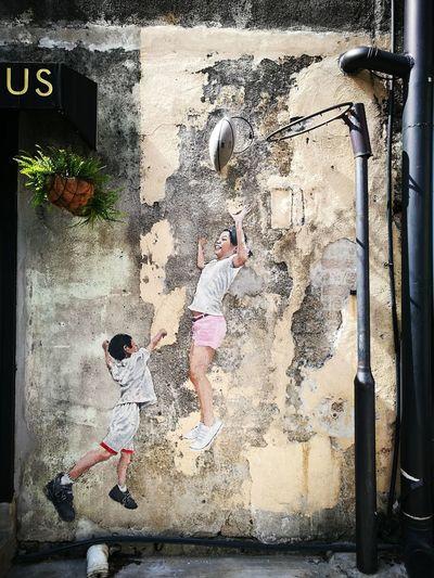 3D Art Mural Pulau Pinang Malaysia Truly Asia EyeEm Gallery EyeEm Selects Basketball Art Mural Street Art Graffiti ArtWork Vandalism
