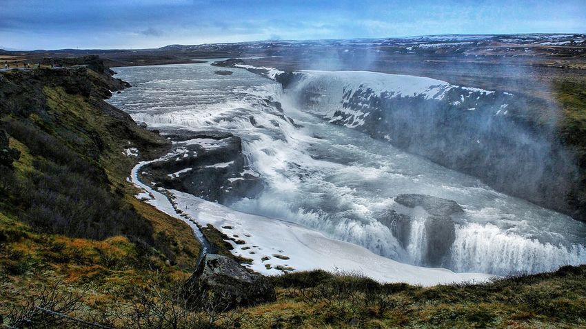 Iceland Goldencircle Beauty In Nature Waterfall Water Mountain Gulfoss Waterfall