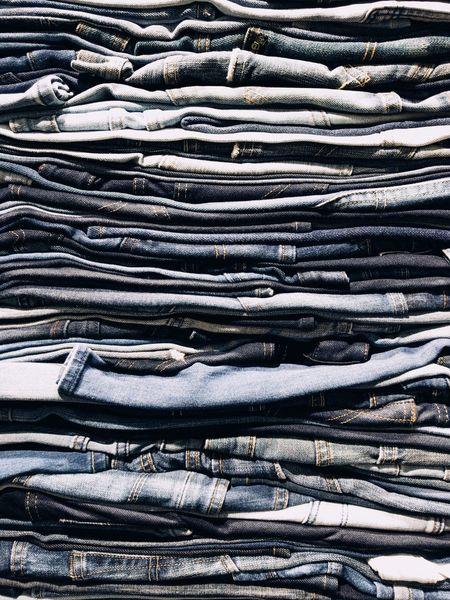 デニムの壁 Denim Stack Blue Backgrounds No People EyeEmNewHere Close-up Wall The Week On EyeEm Jeans Jeans♡