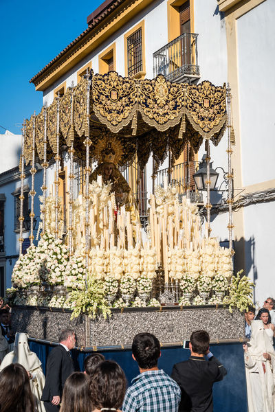 Easter procession in Cordoba Andalusia Catholic Celebration Christian City Cordoba Spain Córdoba Easter Event Holy Week Holy Week Celebrations Nazarenos SPAIN Tradition Travel Easter Week Nazarene Parade Place Of Worship Procesiones Procession Religion Religious  Scultpure Traditional