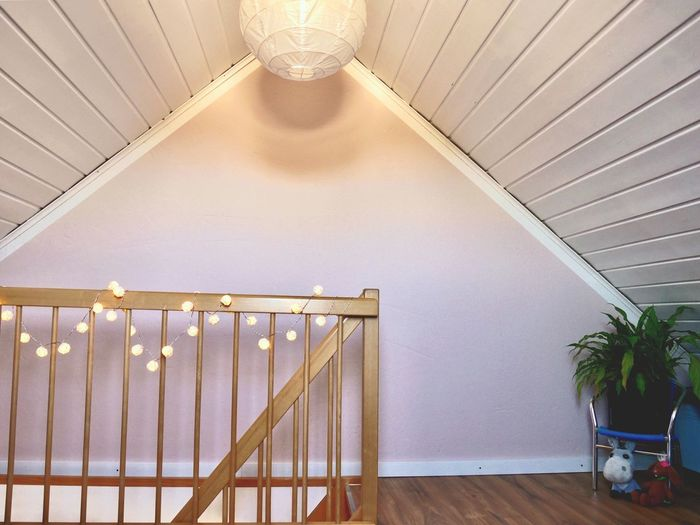 Indoors  Steps And Staircases Staircase Architecture Illuminated No People Home Interior Home Showcase Interior Day Seeling Playroom Girlroom Wallcoloros Rosa Wood - Material