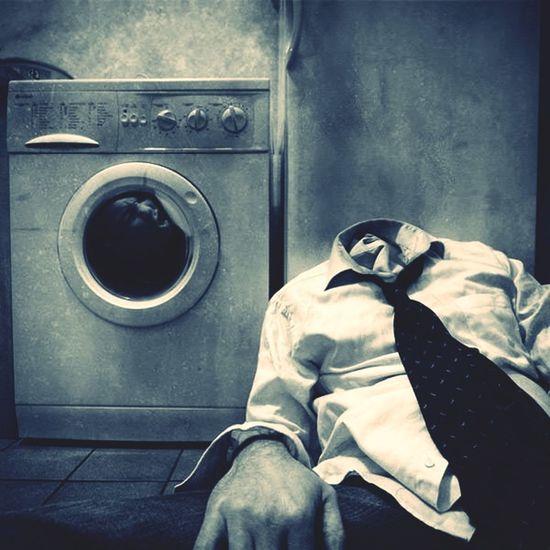 die waschmaschine macht mich noch ganz kopflos ... Waschmaschine Waschsalon Waschen Waschtag