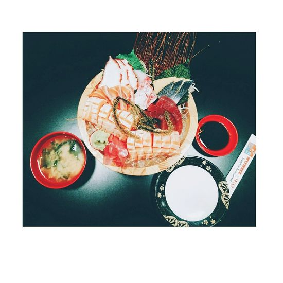 High Angle View Table Freshness Food And Drink Fruit No People Sushi Japanese Food Sasimi Fish Sasimi Still Life Directly Above Indoors  Watercolor Painting Drink Healthy Eating Day Close-up Sushi Time EyeEmNewHere Blackandwhite
