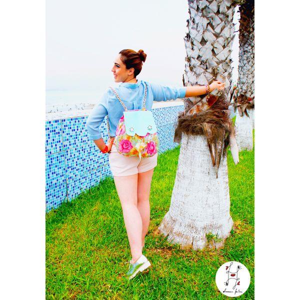 My beautiful sister rocking Laviniafenton backpack💖 Free Fashion Girl Ootd Designer  Handmade Handsewn Materialmix Plastic