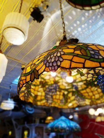 Focus Tiffany Lamp Tiffany Glass Serendipity Lamp Manhattan Restaurant