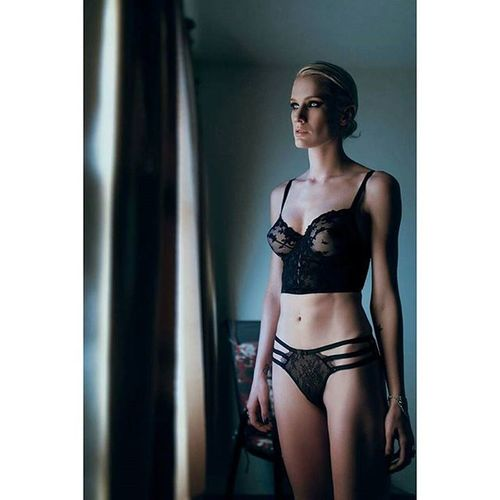 The Motel Vice Series. Model @the.kiera.smith Mua Hair @makeup_by_melody_k Styling Designer  @marina_zoj Assistant @sosolaleo Woman Portrait Photography Style Fashion Editorial  Noir Interesting Inspiration Laphotographers Voir Intimate Lingerie Eyes Blonde
