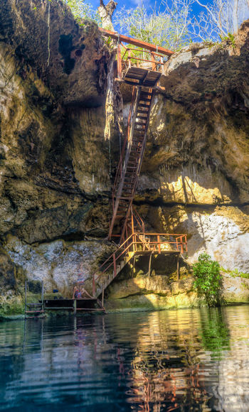 ladder to heaven Beauty In Nature Cenote Cenote Noh-mozón Hole In The Ground Mexico Mérida Nature No People Underground Water Yucatan Peninsula