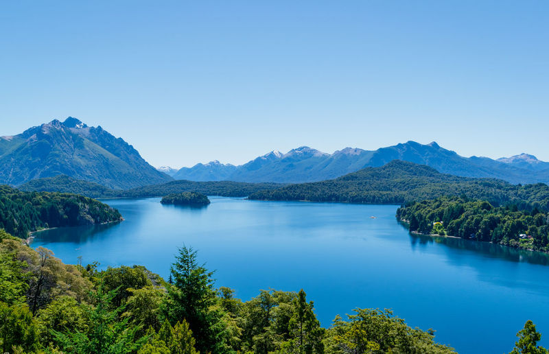 Nahuel Huapi lake... Scenics - Nature Water Tranquil Scene Beauty In Nature Tranquility Sky Mountain Plant Clear Sky Copy Space Tree Lake Blue Mountain Range Nature Non-urban Scene Idyllic No People Day Turquoise Colored Tourism Travel Destinations Forest Scenics Aroundtheworld