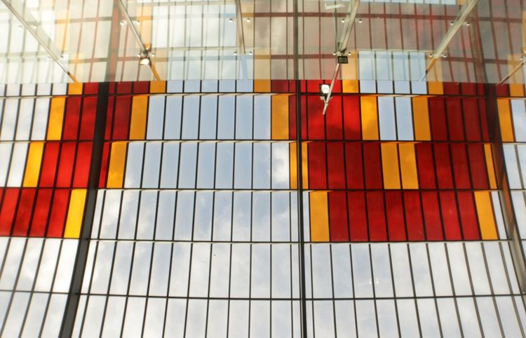 Abstract Station Amsterdam Texture Multi Colored No People Pattern Day Red Full Frame Backgrounds Architecture Striped Window Protection Close-up Built Structure
