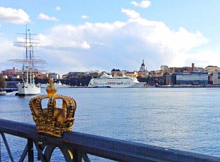 Stockholm Stockholm, Sweden Stockholm Sweden Stockholm Archipelago Boat Ship Navy Blue Sky Cloud - Sky Crown Crown Royal Royal Royalty Sea Baltic Sea Scandinavia Culture Travel Tourism Beauty Landscape Landmark