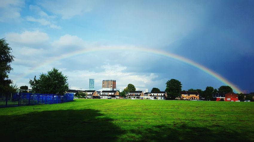 This Is Old Traffordday 30. Rainbow Rainbow Sky End Skyline View City Life Beauty In Nature