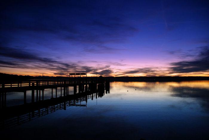 Sonnenuntergang Seeufer Ammersee