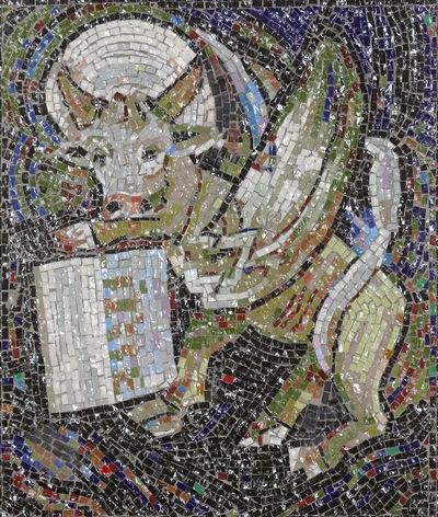 Symbol of St Luke the Evangelist Holy Altar Art Belief Catholic Christian Christianity Church Croatia Evangelist Faith Gospel Luke Mosaic Old Patron Pray Religion Religious  Saint Spiritual Spirituality Worship