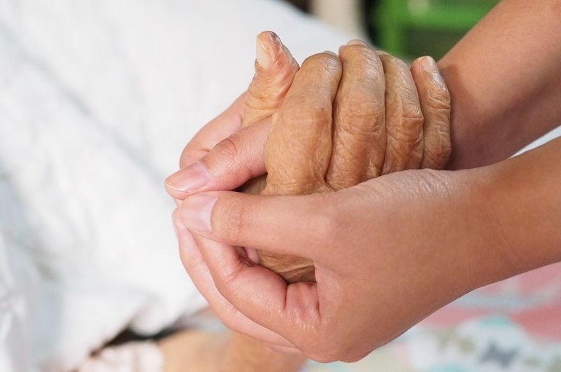 Family Love Adult Old Human Hand Human Body Part Close-up Focus On Foreground Two People Togetherness Real People People Men Indoors  Day Adult