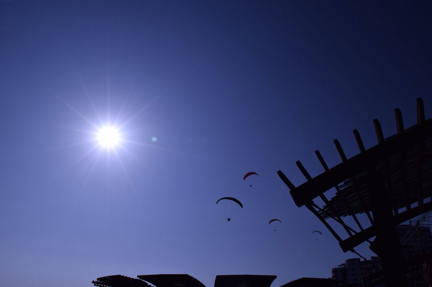 Blue Extreme Sports Paragliding Sky Sun