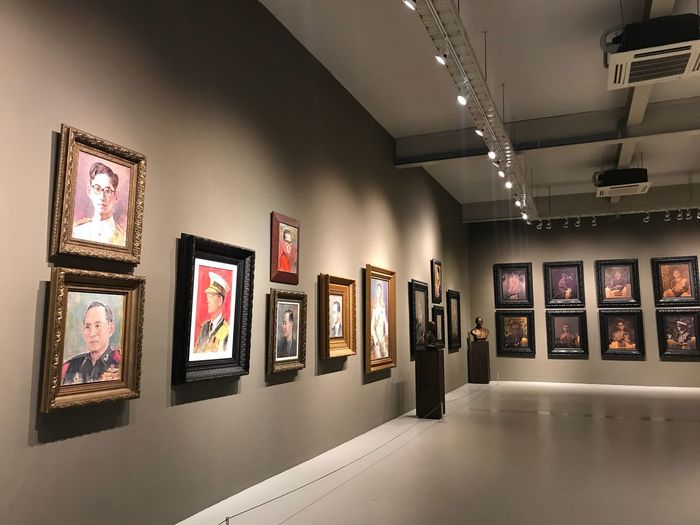 King fo king King Of Thailand Picture Frame Museum Art And Craft Indoors  Illuminated No People Architecture Day