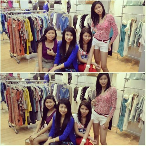 It's fun to have them around most especially when we're all out for shopping <3 Shopping Girls Sisters