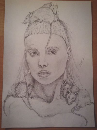 New drawing) Yo-Landi Visser ?? Yo-Landi Vi$$er , Die Antwoord , Drawing , Portrait , Cool , My , Rat , Pencil Drawing , Cute