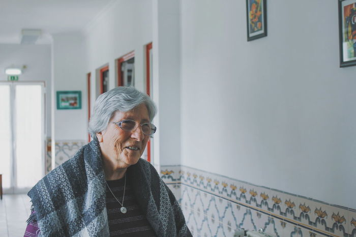 EyeEm Selects Standing Gray Hair Adult People Day Indoors  One Person Senior Adult Connection Adults Only Portrait Of A Woman Portrait Woman Who Inspire You Woman Beautiful Lovely People Nursing Home Helping Others Smiling Happy Seniors
